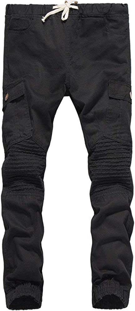 Mens Harem Pants Leg Pants Nero-Medium Casual Pants