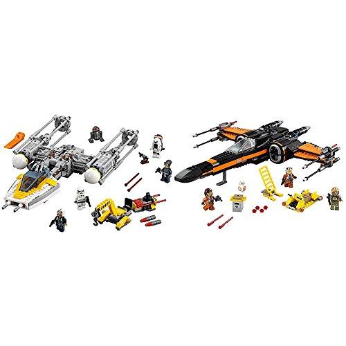 LEGO Star Wars Y-Wing Starfighter 75172 Star Wars Toy with LEGO Star Wars Poe's X-Wing Fighter 75102 Star Wars Toy Bundle