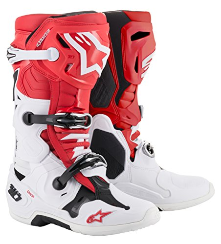 Tech 10 Off-Road Motocross Boot (11 US, Red White Black)