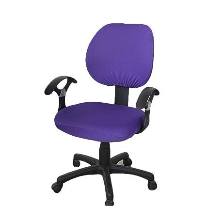 Daxoon - Funda elástica Universal para Silla de Escritorio, Funda para Silla Monocolor, Resistente al Polvo y fácil de Limpiar, 6 Colores