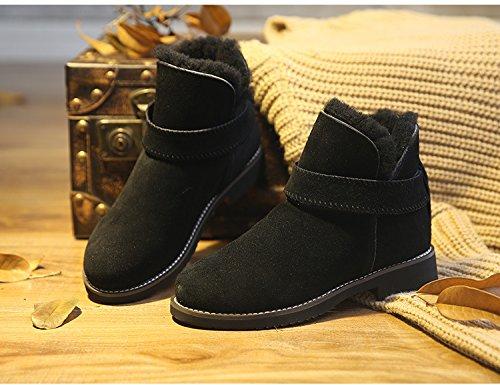 Neige De Hiver Plates Bottines Noir Chaussures Cheville Antidérapante Femme Bottes t1vnwExqxA