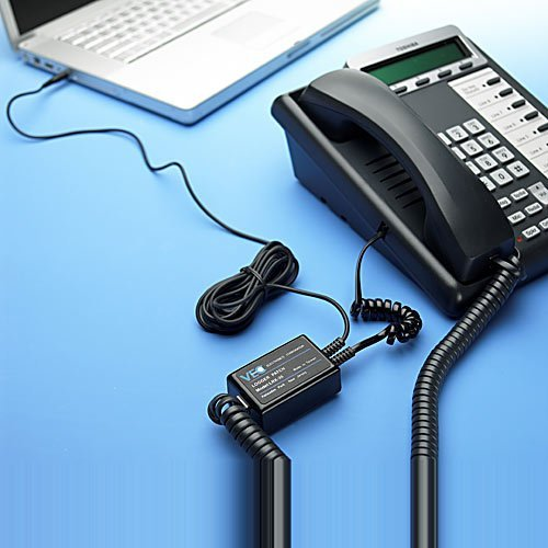 VEC Phone to PC Audio Adapter (Corded Phones) (LRX35) Model: LRX-35 Office Supply Store