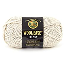 Lion Brand Yarn 630-402 Wool-Ease Chunky Yarn, Wheat