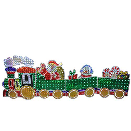 Lighted Christmas Train Outdoor Decor