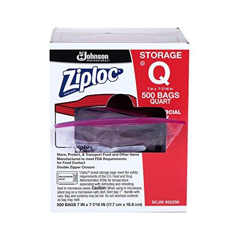 (Ziploc Storage Bag, Quart, 500 ct)