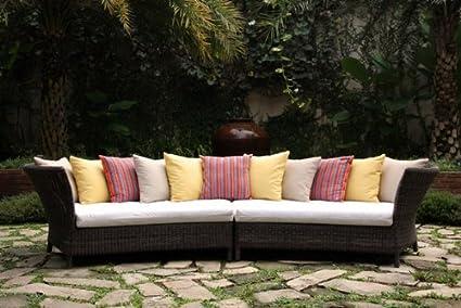 Muebles de jardín centro - Valencia sofás curvados (cojines ...