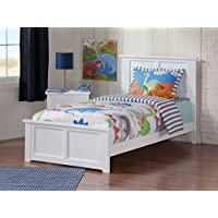 Madison Bed with Matching Foot Board, Twin, White