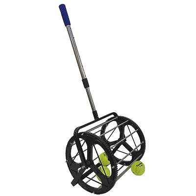 SamMoSon Tennis Ball Roller Mower & Hopper