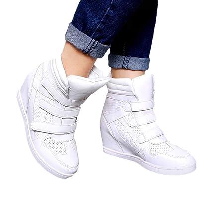 Longra ☂☂ ☂☂❤☃❤ Zapatos de Deporte con Parte Superior Gruesa con Parte Superior de Velcro, Zapatillas Antideslizantes para Mujer: Amazon.es: Ropa y ...