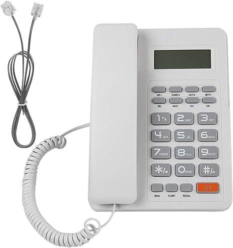 Bewinner Schnurgebundene Telefone einfache Flash-Funktion die /über die Telefonleitung betrieben Werden Festnetztelefon mit automatischer Identifikation Anrufer-ID DTMF//FSK Dual-System