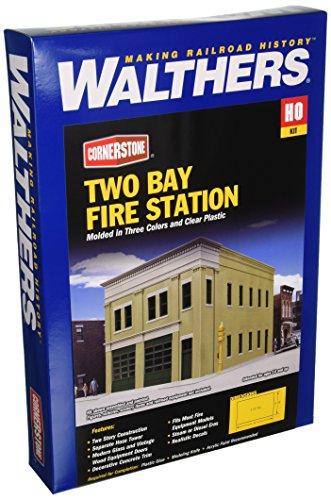 Walthers, Inc. Bay Fire Station Kit, 8 X 4-7/8 x 5-1/2