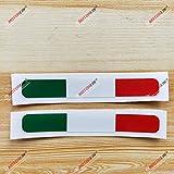 italian flag stripe tape - 3S MOTORLINE (2) 4'' Glossy Italy Italian Flag Stripes Decal Stiker Italia a Car Vinyl sda1