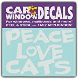 peace love cats decal - Car Window Decals: PEACE LOVE CATS | I Love Cats | Stickers Cars Trucks Glass