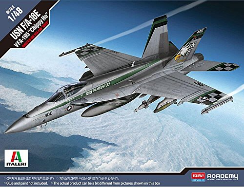 Academy US Navy F/A-18E Super Hornet VFA-195 Dambusters Chippy Ho Plastic Model Kits 1/48 Scale