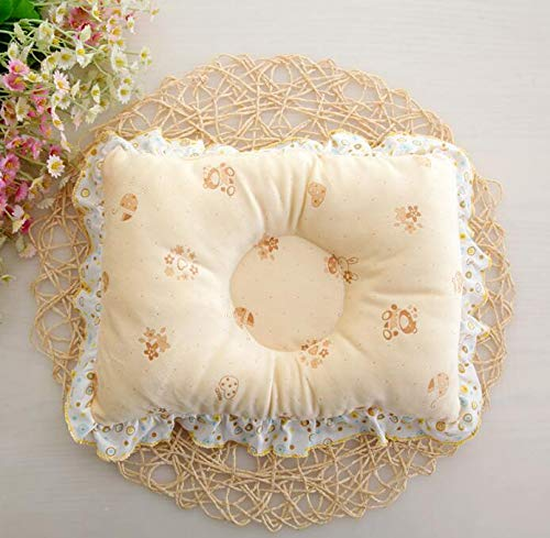 Baby Pillow New Born Baby Head Shaping Pillow Neck Support Sleeping Cushion(Yellow) Party Girls S