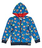 Super Mario BROS Sweat Jacket with Hood, Blue (4 Years)