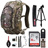 Badlands Camera Day Pack/Hunting Backpack, (Realtree Xtra Camouflage) with Deluxe Photography Accessories Bundle