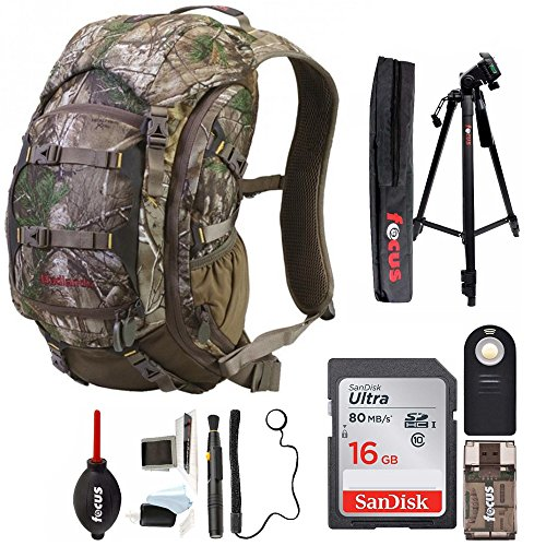 Badlands Camera Day Pack/Hunting Backpack, (Realtree Xtra Camouflage) with Deluxe Photography Accessories Bundle (Best Daypack For Photography)