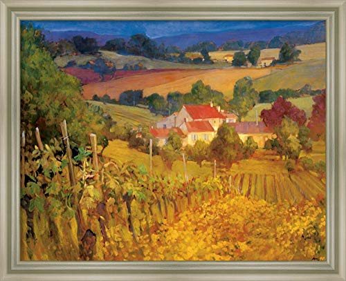 Framed Canvas Wall Art Print   Home Wall Decor Canvas Art   Vineyard Hill by Philip Craig   Modern Contemporary Decor   Stretched Canvas Prints
