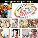 VICTHY 100pcs Dog Nail Caps, Glitter Colors Pet Dog