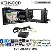 Volunteer Audio Kenwood DNX574S Double Din Radio Install Kit with GPS Navigation Apple CarPlay Android Auto Fits 2011-2014 Toyota Sienna with Amplified System