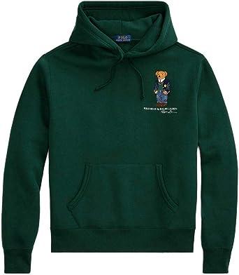 Felpa Ralph Lauren LS Po Hood Polo Bear Verde Hombre L Verde ...