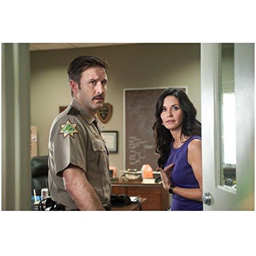 Scream David Arquette and Courtney Cox Together Looking Through Door 8 x 10 Inch - Cox Doors