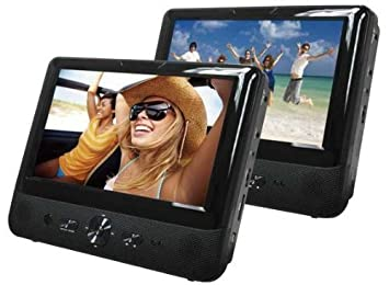 Bush 9 Inch Dual Screen In Car DVD Player with Car headrest mounting kit,  USB port,earphones - Remote control and Parental control