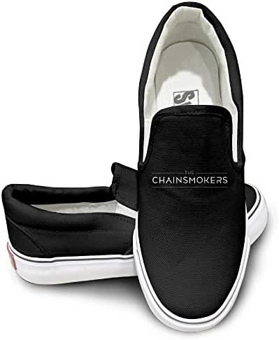 The Chainsmokers Logo Mens Casual Slip-On Shoes Classic Boat Shoes