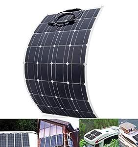 100 W flexibel monokristallin solpanel 16 V bil batteri laddning båt & hem av gallersystem camping vandring fiske marin hård miljö