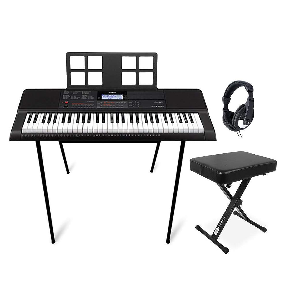 [해외] CASIO CT-X700 스탠드의자헤드폰 세트 포터블 키보드 【61열쇠】 카시오