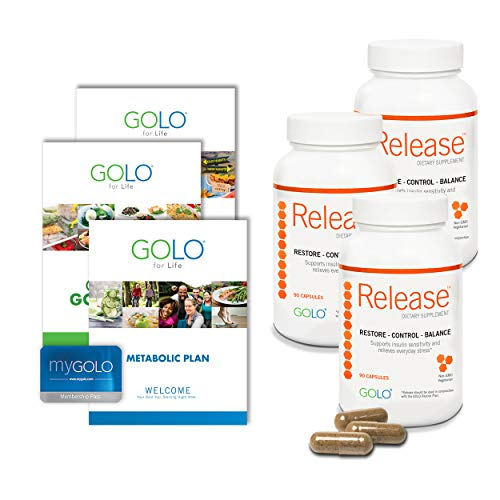 GOLO Metabolic Plan Weight Loss System - Release Weight Loss Diet Supplements - Made with Natural Ingredients - 90 Day -