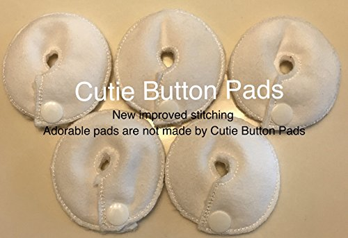 Cutie Button Pads G-tube 5 Pack Pads (3 Inch Round White)