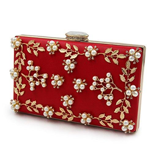 da red Borse gold opzionali frange TUTU donna in colori donna da da Borse sera rilievo 8 con RUZTHZqa5W