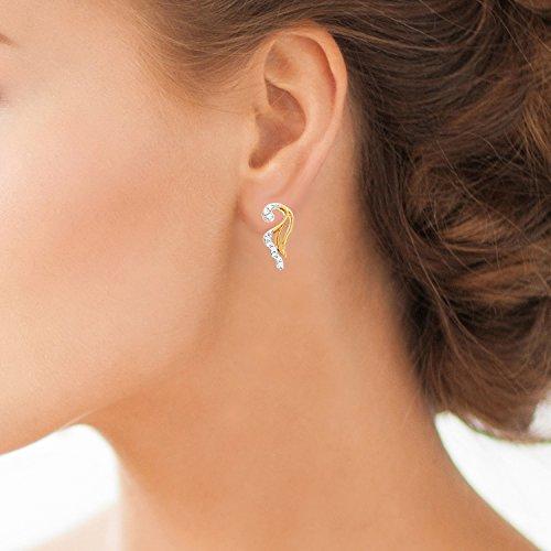 Giantti 14carats Diamant pour femme Boucles d'oreille à tige (0.116CT, VS/Si-clarity, Gh-colour)