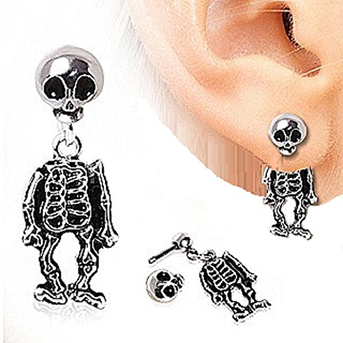 Piercing Surgical Two Piece Skeleton Earring