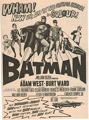 briprints Batman 1966 Poster Print Size 24x18 Decoration semi Gloss Paper ()
