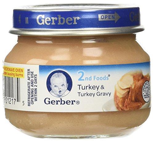 Gerber Baby Food, Turkey & Turkey Gravy, 2.5 (Gravy Baby Food)