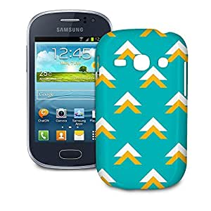 Phone Case For Samsung Galaxy Fame S6810 - Geometric Abstract Triangles Teal Hard Designer