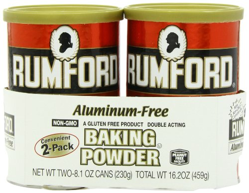 Rumford Aluminum Free Baking Powder, 8.1-Ounce Canisters - Pack of 2