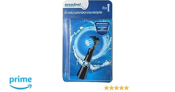 nevadent® 8 cabezales de cepillo de dientes/cabezales de recambio para cepillo de dientes dazk 8 B2: Amazon.es: Salud y cuidado personal