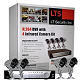 LTS LTD04HTSK 4-Camera H.264 Realtime DVR Security System with 320GB, Mobile Phone Live View, VGA output