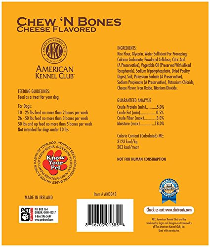 Picture of American Kennel Club Chew N' Bones Dog Treats - Cheese