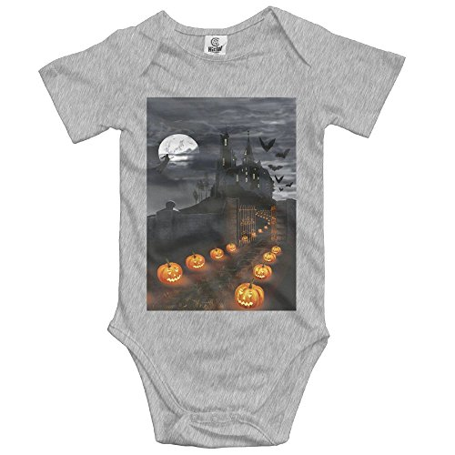 Lovely Halloween Castle With Pumpkins Comfort Baby Infant Bodysuit Newborn Infant Toddler Baby Boys Girls Climbing Clothes Rompers Ash]()