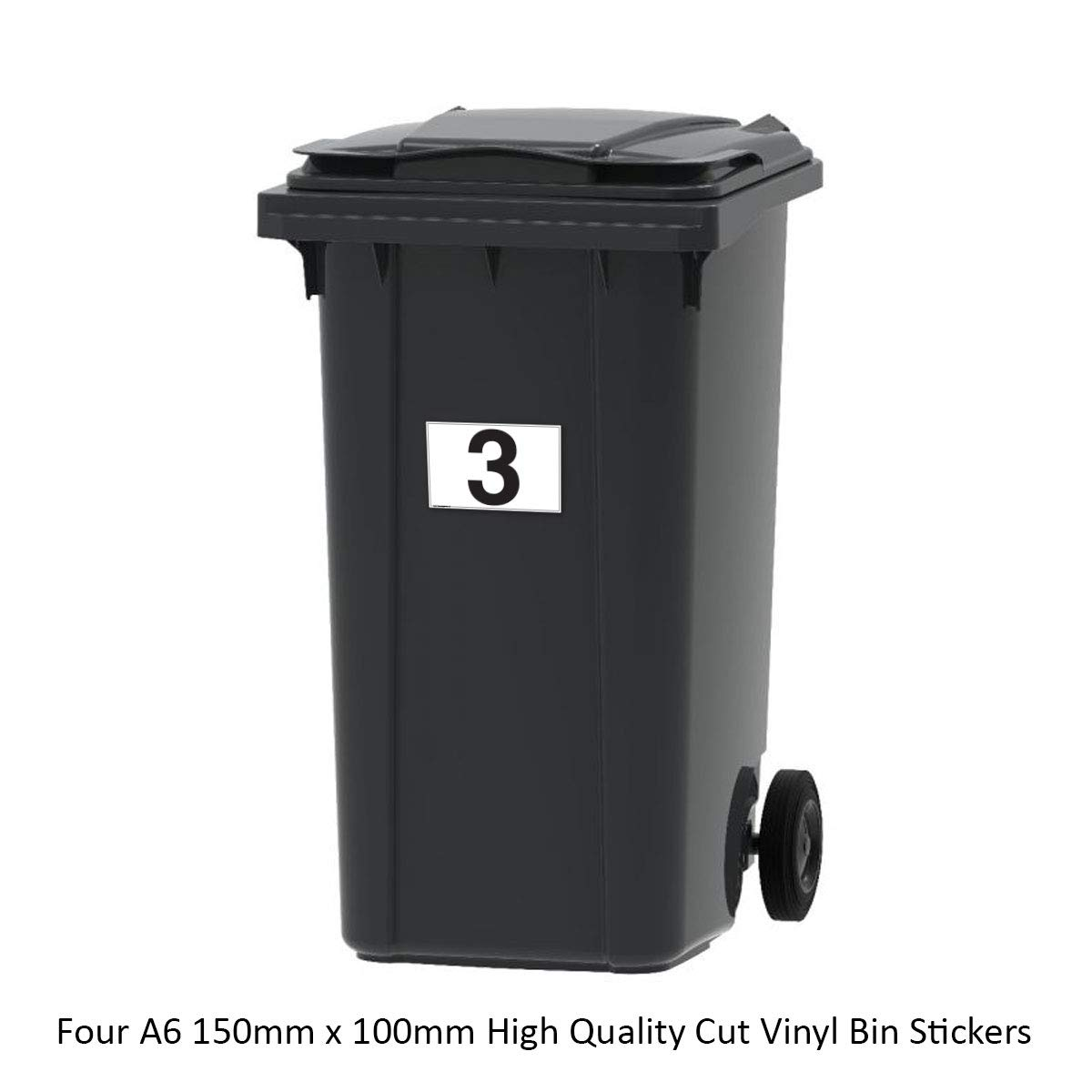 4 x A6 Stickers Pixel Widgets Number Only Wheelie Bin Stickers//Address Plaques