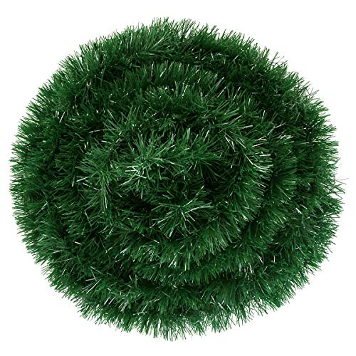 Wallfire 15m/50 Foot Christmas Garland Decorations, Artificial Pine Garland Soft Green Garland for Holiday Wedding Party Decor, Outdoor/Indoor Use