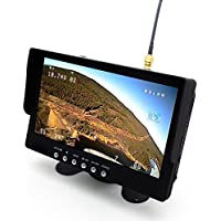 USAQ 7 5.8G FPV Monitor 800x480 40 Channel with Built-In Battery & Speakers 800x480