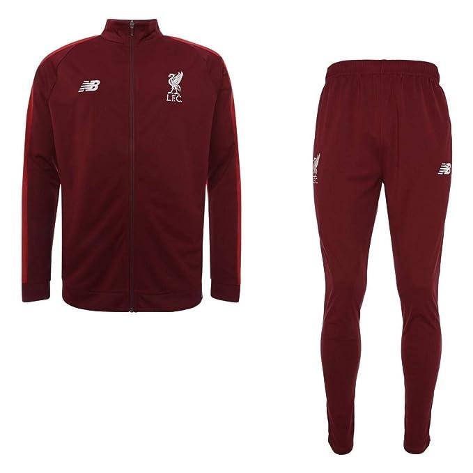 584692493 New Balance Liverpool FC 2018 19 Elite Training Presentation Suit - Youth -  Cabernet Red