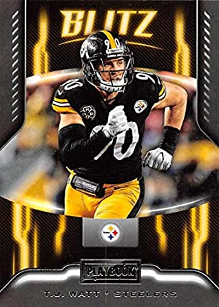 promo code d86f3 6e88e Amazon.com: 2018 Playbook BLITZ Football #13 T.J. Watt ...