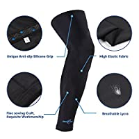 OpeCking Compression Leg Sleeves Knee Brace for Sports, Running, Basketball, Calf Knee Pain Relief, Improve Blood Circulation and Injury Recovery Best Leg Support for Men & Women - 1 Pair by OpeCking